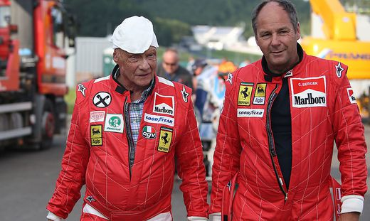 Niki Lauda (links) und Gerhard Berger