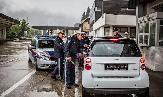 Im Zuge der Schengen Ausgleichsmaßnahmen wurde auch schon in Thörl-Maglern kontrolliert
