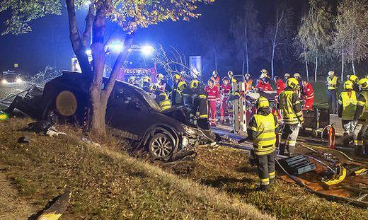 ++ HANDOUT ++ NIEDER�STERREICH: AUTOLENKER PRALLTE IM BEZIRK KREMS-LAND GEGEN B�UME