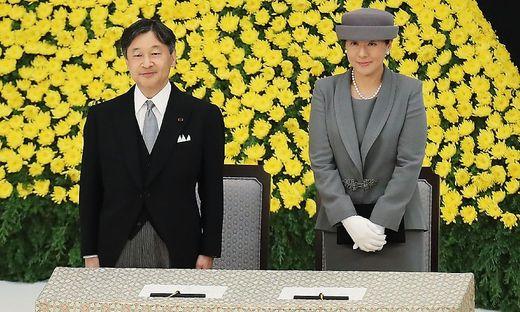 Japans neuer Kaiser Naruhito mit seiner Frau Masako