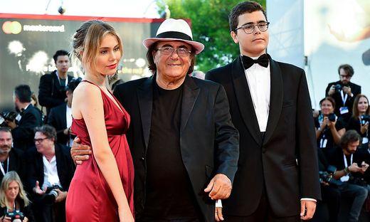 Albano Carrisi mit Tochter Jasmine und Sohn Albano junior