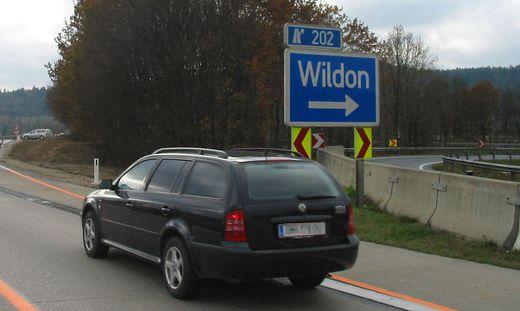 Die Abfahrt Wildon wird gesperrt
