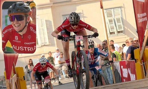 Mountainbikerin Katharina Sadnik wurde bei der WM starke Siebente