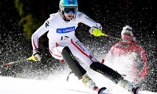 Die mittlerweile zurückgetretene Carmen Thalmann bei den Österreichischen Meisterschaften 2012 auf der Gerlitzen. Die Kärntnerin holte damals Slalomsilber