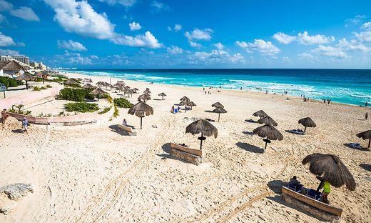 Der Strand im mexikanischen Cancun