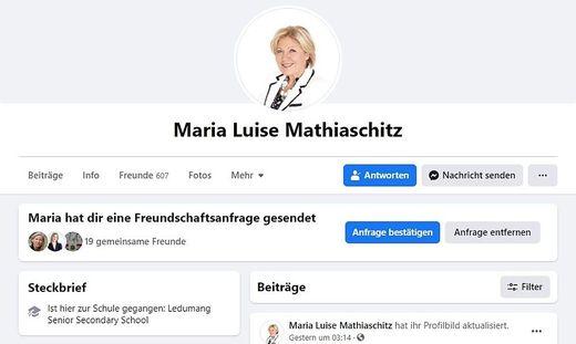 Das Profilbild ist mit jenem ident, das Mathiaschitz tatsächlich verwendet hat