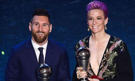 Lionel Messi und Megane Rapinoe