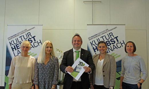 Das Lannacher Kultur-Team präsentierte das dichte Programm für den Kulturherbst XXL