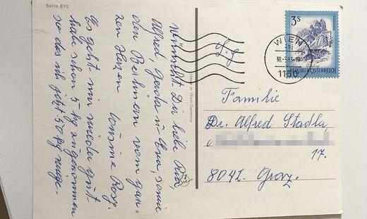 Postkarte aus 1983