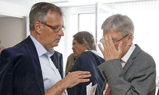 Gernot Nischelwitzer (links) reitet wilde Attacken gegen Peter Kaiser und die Regierungskoalition