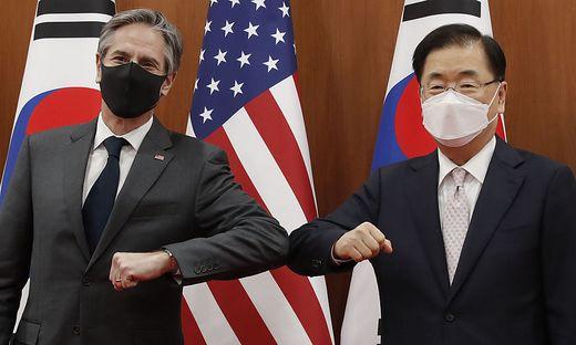US-Außenminister Antony Blinken  und Südkoreas Außenminister Chung Eui
