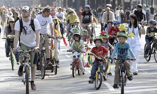Die Radfahrenden