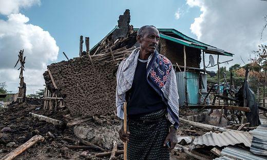 Zerstörung und Tod unter anderem Region Tigray im Hochland von Abessinien in Äthiopien