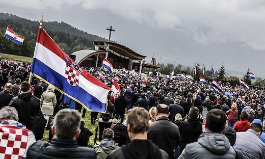 Vergangenes Jahr kamen nur noch rund 10.000 Besucher zum Treffen nach Bleiburg