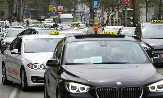 Wiens Taxifahrer haben wiederholt gegen Uber demonstriert