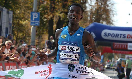 Lemawork Ketema siegte 2014 über die volle Distanz