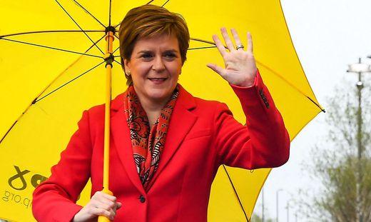 SNP-Chefin Nicola Sturgeon konnte mit ihrer Partei die Regionalwahl klar gewinnen