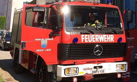 Diese Aufnahme zeigt das RLF noch im Einsatz in der Brucker Fraunedergasse