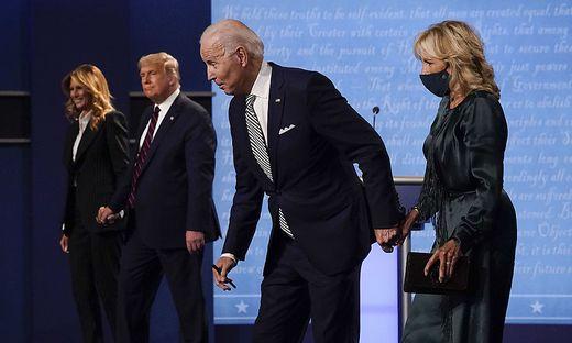Joe Biden, Jill Biden, Melania Trump, Donald Trump