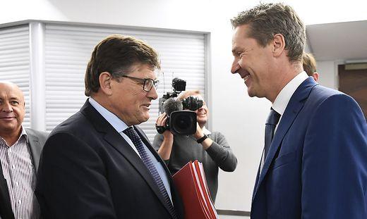 Geübte Verhandler: Seit Jahren stehen sich bei den Verhandlungen zum Metaller-KV Rainer Wimmer und Christian Knill gegenüber