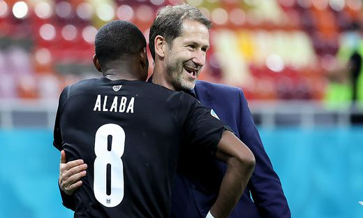 David Alaba und Franco Foda