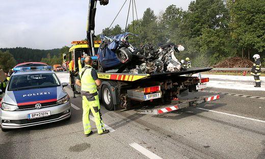 Ein schwerer Unfall auf der B 317 auf Höhe Kappel/Krappfeld forderte ein Todesopfer