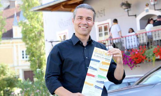 Michael Wasserfaller bietet mit der Stadt Althofen Kultur in der Altstadt