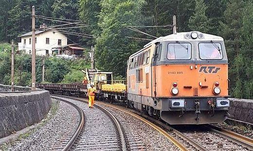 Semmering Bahn Sanierung Baustelle