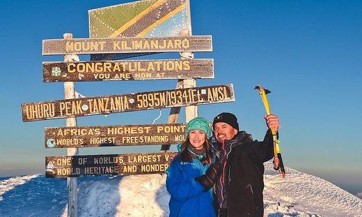 Anna Scherfler feierte ihren Geburtstag auf 5895 Metern
