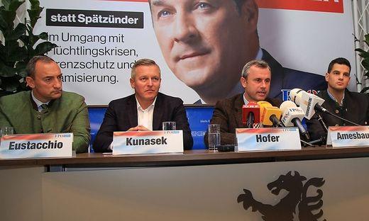 Eustacchio, Kunasek, Hofer und Amesbauer in Graz.