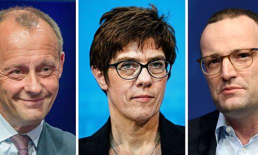 Kandidaten fuer CDU-Vorsitz