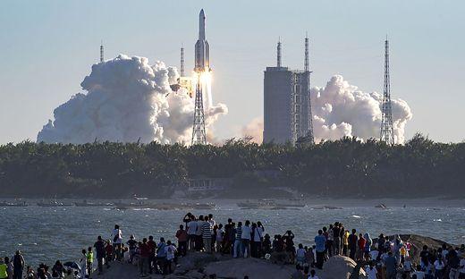 Die Rakete hob am Dienstag ab