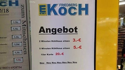 Abkühlung im Supermarkt - Jun. Täglich