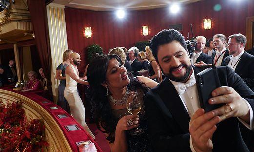 Anna Netrebko und ihr Ehemann Yusif Eyvazov auf dem Wiener Opernball