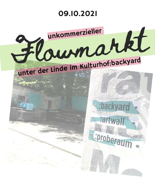 Am 2. Oktober findet im Kulturhof Villach ein unkommerzieller Flowamarkt statt
