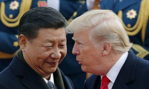 Im Zollstreit: Chinas Xi Jinping und US-Präsident Donald Trump