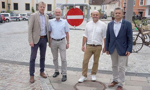 Hartberger Wirtschaft protestiert gegen Hauptplatz-Sperre
