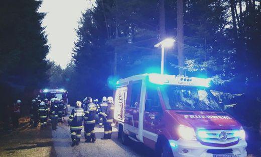 Großer Feuerwehreinsatz nach dem Unfall