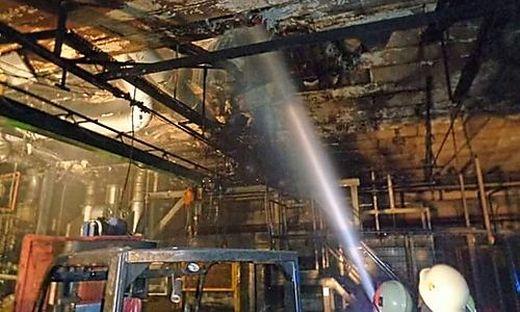 Rund 100 Feuerwehrleute bekämpften den Brand