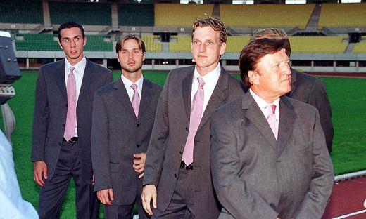 Wiedervereint: Martin Stranzl (links) und Andreas Herzog (2. von rechts)