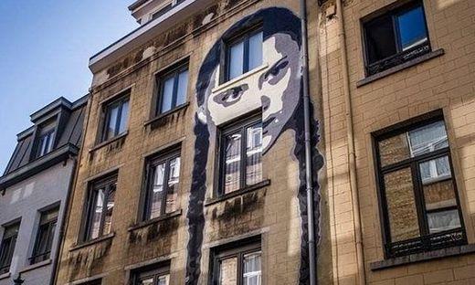 Greta-Graffito in Brüssel
