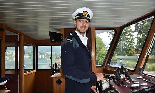 Christoph Savle steuert seit dieser Woche die MS Ossiach am Ossiacher See