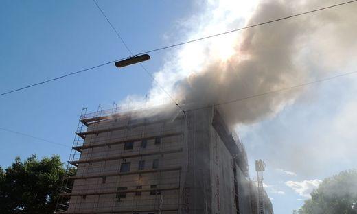 2013 brannte das Hochhaus in der Grazer Grabenstraße