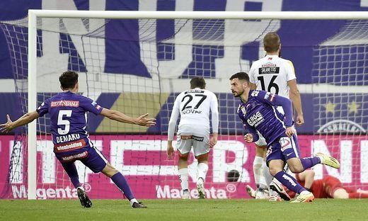 FUSSBALL TIPICO BUNDESLIGA PLAY-OFF EUROPACUP: FK AUSTRIA WIEN - RZ PELLETS WAC