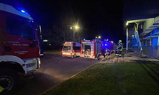 Einsatzkräfte der FF Lannach und Blumegg-Teipl rückten heute früh zu einem Brandeinsatz aus