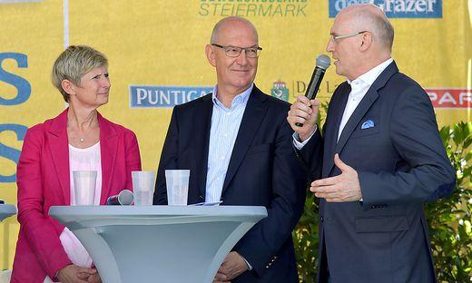 Babara Muhr, Stefan Herker, Wolfgang Bartosch (von links)