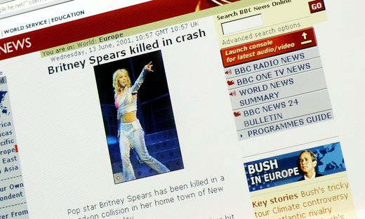 Fake ´BBC News´ Website Claims Britney Spears Died
