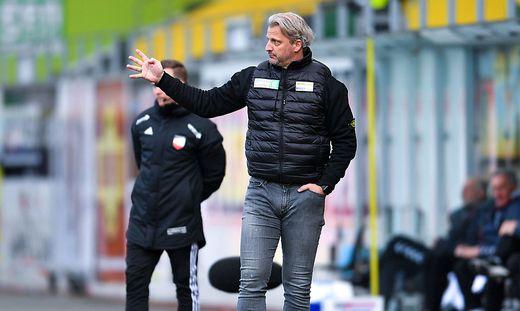 Markus Schopp ging mit seiner Mannschaft hart ins Gericht