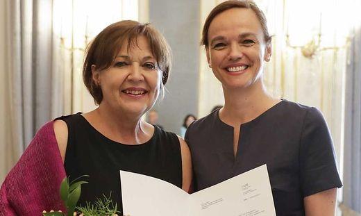 Krainz-Dürr (links) mit Ministerin Hammerschmid