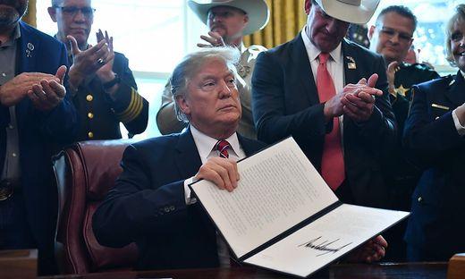 Stolz auf seinen Kraftakt: Donald Trump